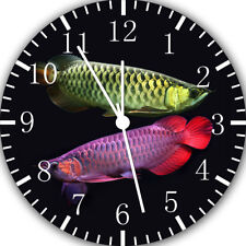 Arowana Fish Frameless Borderless Wall Clock Nice For Gifts or Decor E404
