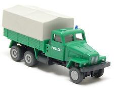 SES S.E.S. IFA G 5 LKW Pritsche Plane Polizei grün DDR Mannschaftswagen 1:87 H0