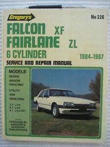 FORD ZF- ZL series FALCON FAIRLANE1984/1987 3.3 & 4.1 WORKSHOP REPAIR  MANUAL  .