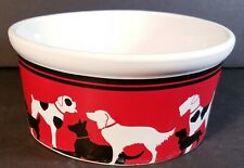 "Riviera Van Beers Signature Dog Deco Food/Water Bowl Dish Good Dog 6"" x 3"" EUC"