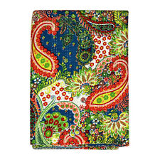 Indian Handmade Quilt Vintage Paisley Kantha Bedspread Throw Cotton Twin Blanket