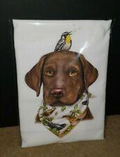 Mary Lake Thompson Chocolate Labrador Retriever Dog Kitchen Flour Sack Towel
