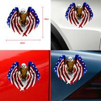 Bald Eagle USA American Flag Sticker Car Truck Window Decal Car Accessory Decor