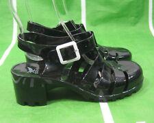"Black 2-1/4"" Heel Womens Fashion Jellies Jelly Beach Sexy Sandals Size 7"