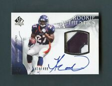 2009 Knowshon Moreno Upper Deck Rookie Authentics RC Patch On-Card Auto /499