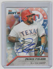 PRINCE FIELDER Rangers SIGNED 2016 Topps Bunt Baseball 68 Autograph ON CARD AUTO