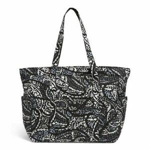 Vera Bradley Quilted Get Going Paisley Noir XL Carry-on black Tote top-zip Bag