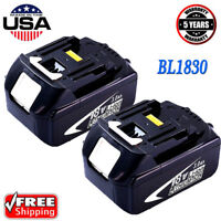 2x 18V BL1830-2 for Makita 18 Volt BL1830 BL1850 1815 LXT Battery 3.0Ah Cordless