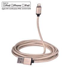 MFi 2M cotone intrecciata lungo un fulmine a cavo usb con usb per iPhone SE 5 6