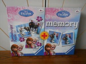 FROZEN jigsaw puzzle and memory game set RAVENSBURGER new, sealed,  25-49 pieces