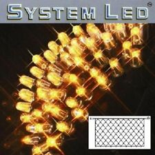 System LED Lichternetz 2x1m 100er amber Kabel schwarz außen 465-16 xmas