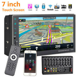 """7"""" Car GPS Navigation FM DVD Player 2DIN Stereo Touch Screen Rearview Mirrorlink"""