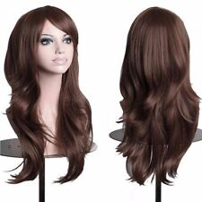 Hot Halloween Cosplay Wig Long Curly Straight Wavy Full Wigs Costume Party Red s