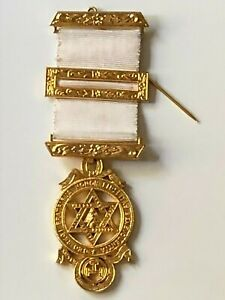 Vintage MASONIC gold metal medal Royal Arch Chapter medal collectors rare