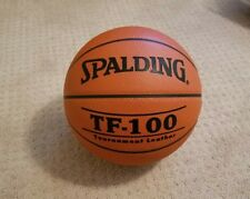 "Spalding TF-100 Tournament Leather Game Ball Basketball, 29.5""  New CRAZY RARE!"