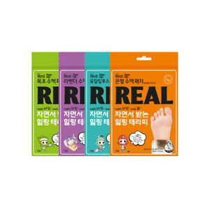 REST UP Healing Foot Patch 10 Pieces (4 Types) Foot Detox Patch Refreshing Korea