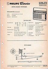 Manuel d'instructions service pour Philips 12 RL 273 , Nicolette de luxe