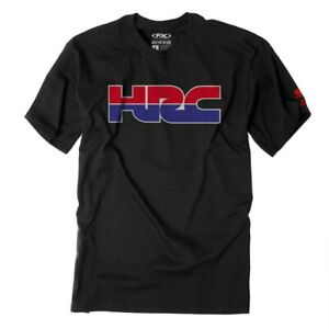 Factory Effex Licensed Honda HRC T-Shirt Black Mens All Sizes