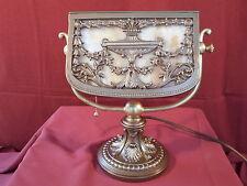 1920s ART NOUVEAU SLAG GLASS DESK/PIANO LAMP – BRADLEY & HUBBARD