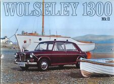 Wolseley 1300 Mk II 1968-71 Original Sales Brochure Pub. No. 2586/A Jan 1969