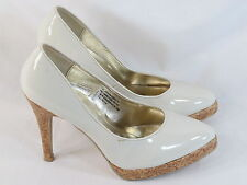 SUZY SHIER White Platform Pumps Size 8 M US Excellent Plus Condition
