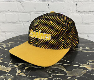 Pittsburgh Steelers Rare Vintage Starter Black Mesh Yellow NFL Snapback Hat