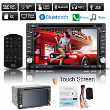 "6.2"" HD Touch Screen Double 2 DIN Car Stereo DVD Player Bluetooth Radio MP3 MP4"