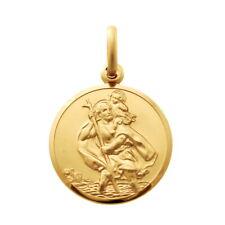 De 9 quilates de oro St Saint Christopher Colgante Cadena Collar Con Caja De Regalo - 2.6 g