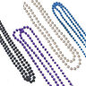 Necklace Long Colour Plastic Neck Laces Beads Rave Neon Party Rope Rosary Bright