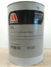 MILLERS OILS PBL, HEAVY DUTY LITHIUM, MOLLY / GRAPHITE PIN & BUSH GREASE 3 Kg