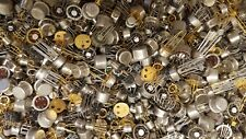 Lot (100+) Assorted Can Transistors Ic's Misc Electronics Component Parts New