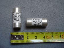 2 fusibles  cartouche 10,3 mm par 25,8 mm, 16 A, 230V