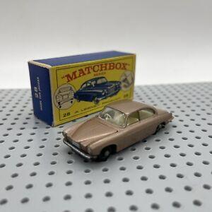 Lesney Matchbox Series 28 Mark Ten Jaguar Car Original Box
