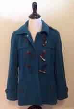GEORGE Turquoise / Teal Blue Winter Long Sleeve Zip Up Coat! Size Medium M