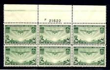 US Stamps - #C21 - MNH - 20 cent Trans-Pacific Air Mail - Pl # Blk -CV $85