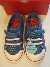 "New See Kai Run ""Saylor""blue/red water friendly mesh sneakers,toddler 7,NWT"