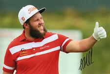 "Andrew ""Beef"" Johnston, English golfer, signed 12x8 inch photo. COA. Proof."