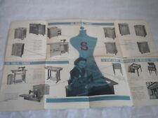 Vintage Brochure french singer sewing machines 1950s