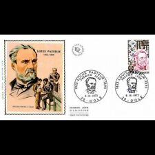 FDC soie - 150e anniv naissance de Pasteur - 6/10/1973 Dole