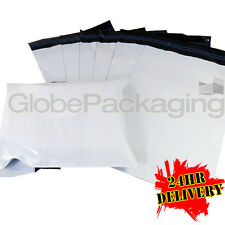 """5000 Strong WHITE 6x9"""" Mailing Postal Poly Postage Bags 6""""x9"""" (170x240mm) 24HRS"""