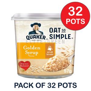 Quaker Oats So Simple Golden Syrup Porridge 57g x  32 Pots - Just Add Water