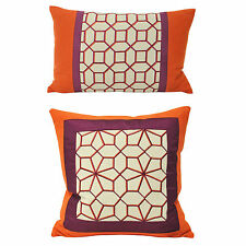 Linen Blend Square Contemporary Decorative Cushions