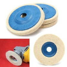 "100mm Wool Buffing Polishing Wheel Felt Pad 4"" Angle Grinder Buffer Disc x3 DT4X"