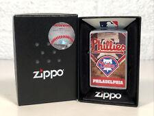 New Philadelphia Phillies Zippo MLB Lighter In Box Never Fired Liberty Bell