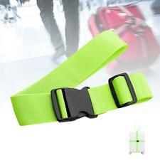 1x Adjustable Suitcase Luggage Straps Travel Baggage Tie Down Belt Lock Green ZH