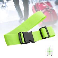 1x Adjustable Suitcase Luggage Straps Travel Baggage Tie Down Belt Lock Green B#