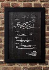 Airplane 1943 Patent Fine Art-Print Galeriequalität A4.Kunstdruck Poster 01
