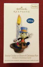 "2012 Hallmark Ornament ~ Disney ""Jiminy Cricket as Ghost of Christmas Past""~ NIB"