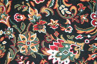 Quality Black Floral Wilton Any Size x 4m Pattern Woven-Backed Carpet
