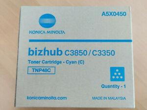 New Genuine Konica Minolta Bizhub Toner Cyan C3850/C3350 A5X0450